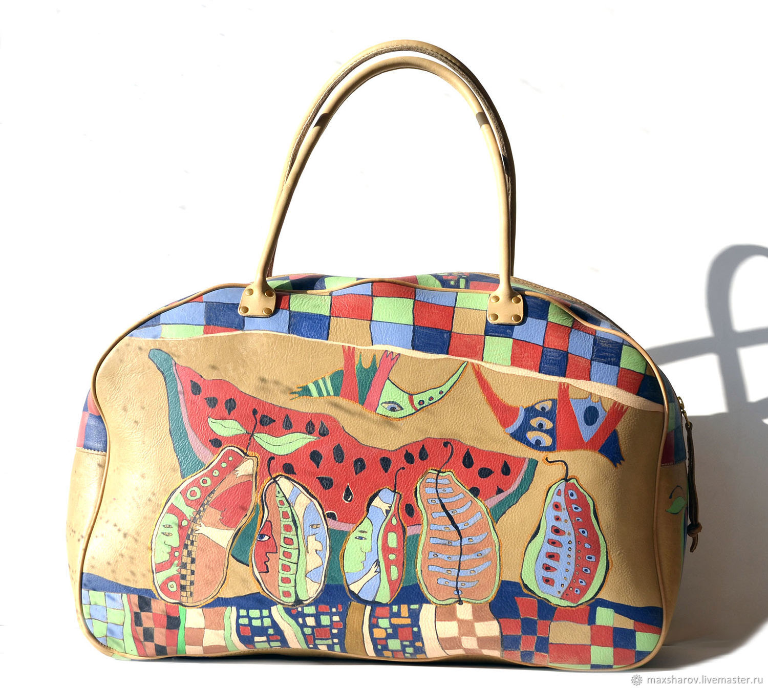 Handmade leather bag art 003 MAX R SIT Hand Painting, Wallets, Moscow,  Фото №1