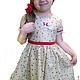 """Одежда для девочек, ручной работы. Платье для девочки из американского хлопка """" Кристина"""". Лариса Тальдрик (MariAnnA-style). Интернет-магазин Ярмарка Мастеров."""