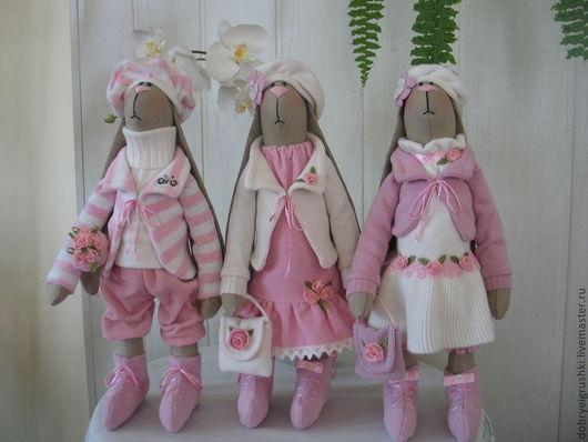 Куклы Тильды ручной работы. Ярмарка Мастеров - ручная работа. Купить Кевин,Кэрол и Кэрри. Handmade. Розовый