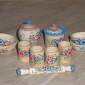 Русский стиль ручной работы. Ярмарка Мастеров - ручная работа Детская посудка деревянная. Handmade.