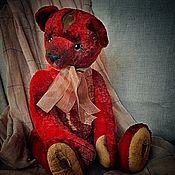 Куклы и игрушки handmade. Livemaster - original item Teddy bears: red Teddy bear. Handmade.