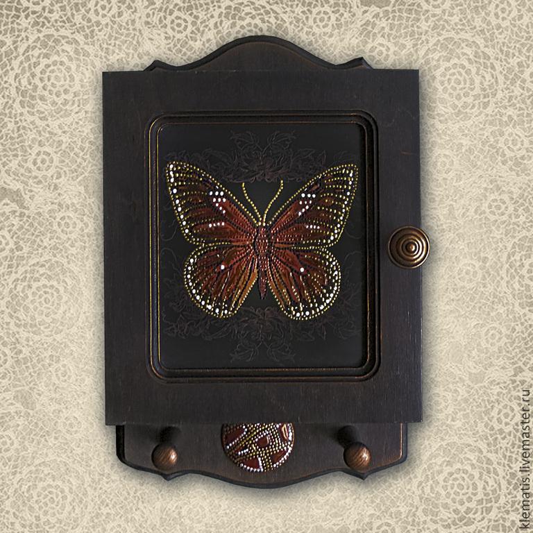 Ключница  Бабочка (ключница-шкафчик,ключница венге), Ключницы настенные, Кропоткин,  Фото №1