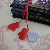 Куклы и игрушки ручной работы. Ярмарка Мастеров - ручная работа Мини варежки. Handmade.