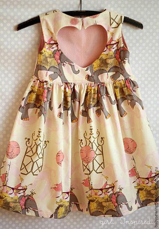 """Одежда для девочек, ручной работы. Ярмарка Мастеров - ручная работа. Купить Выкройка платья """"Мари"""" с сердечком на спинке (PDF). Handmade."""