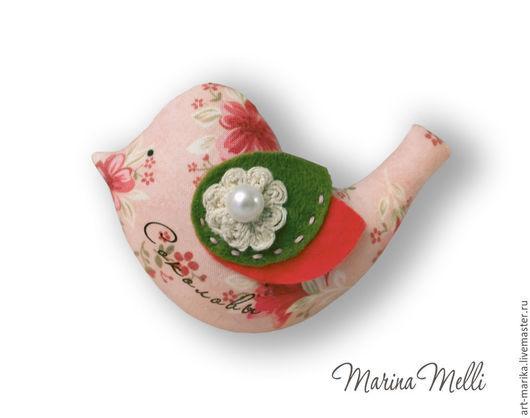 Магниты ручной работы. Ярмарка Мастеров - ручная работа. Купить Птичка. Handmade. Розовый, магнит-птичка, текстильная птичка