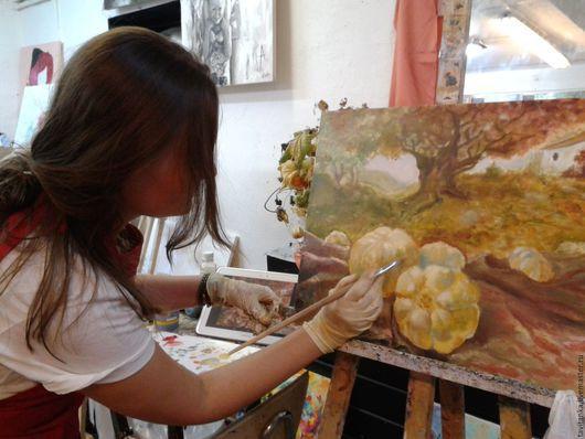 Натюрморт ручной работы. Ярмарка Мастеров - ручная работа. Купить Занятие по живописи. Handmade. Комбинированный, картина маслом в подарок