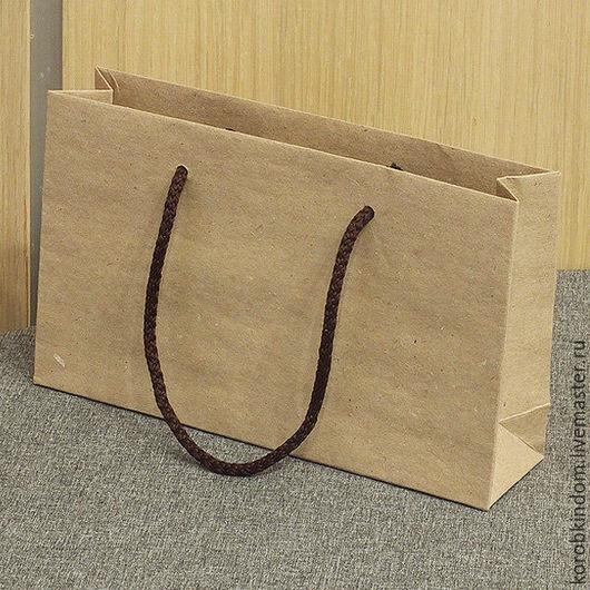 Упаковка ручной работы. Ярмарка Мастеров - ручная работа. Купить Крафт-пакет 20х12х5 коричневый с ручками веревочными коричневыми. Handmade.