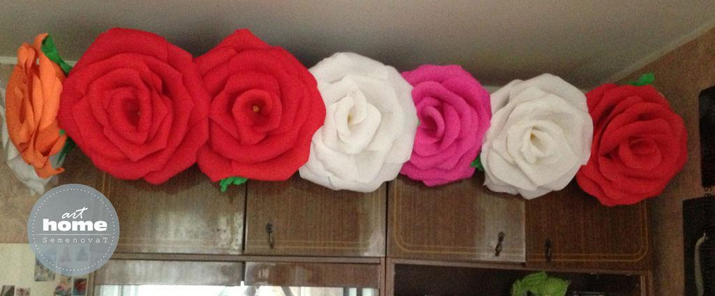 Гигантские розы из креповой бумаги своими руками мастер класс 33