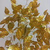Цветы и флористика ручной работы. Ярмарка Мастеров - ручная работа Золотое деревце. Handmade.