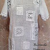 Одежда ручной работы. Ярмарка Мастеров - ручная работа Туника с батистовыми вставками. Handmade.