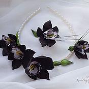 Украшения ручной работы. Ярмарка Мастеров - ручная работа Орхидея цимбидиум. Handmade.