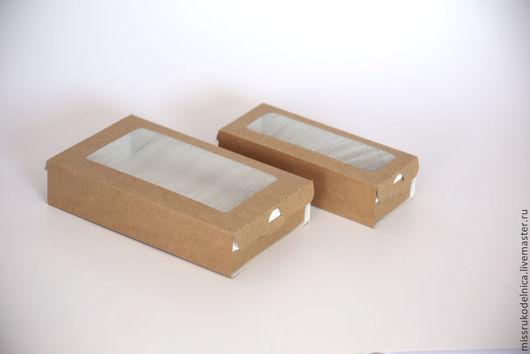Упаковка ручной работы. Ярмарка Мастеров - ручная работа. Купить Коробка с окошком. Handmade. Эко-упаковка, упаковка из крафт-картона
