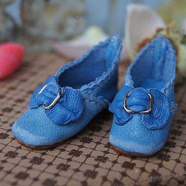 """Куклы и игрушки ручной работы. Ярмарка Мастеров - ручная работа Обувь для Антикварной и современной куклы """"Little blue"""". Handmade."""