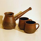 """Посуда ручной работы. Ярмарка Мастеров - ручная работа кофейный набор """"вариант 1"""". Handmade."""