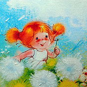 """Картины ручной работы. Ярмарка Мастеров - ручная работа Картина маслом"""" Летняя радость"""".. Handmade."""