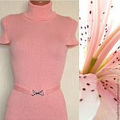 Одежда handmade. Livemaster - original item Turtleneck noodle knitted Pink Lily. Handmade.