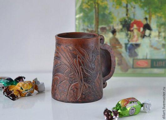 Кружки и чашки ручной работы. Ярмарка Мастеров - ручная работа. Купить Керамическая пивная кружка Дракон Фэнтези. Handmade.