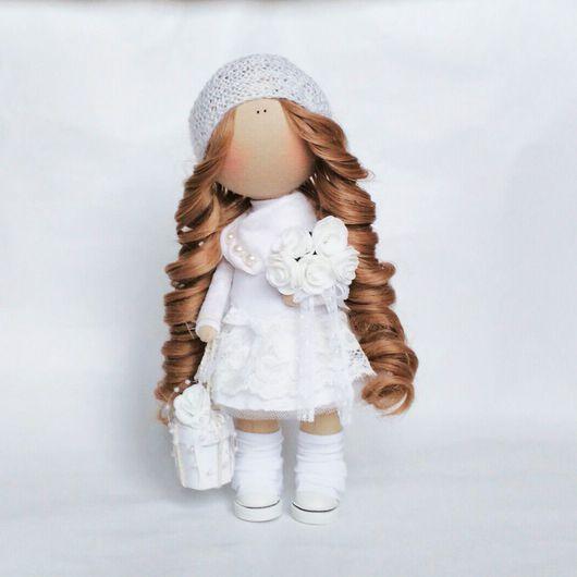 Коллекционные куклы ручной работы. Ярмарка Мастеров - ручная работа. Купить Текстильная куколка Ангел. Handmade. Белый, подарок девушке