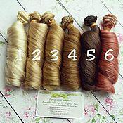 Волосы для кукол в трессах локоны 18-20см (метр) волнистые кудри