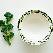 Посуда handmade. Livemaster - original item Carrots in greens ) Deep plate, handmade ceramics.. Handmade.