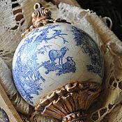 Подарки к праздникам handmade. Livemaster - original item Christmas tree decoration ,,Porcelain,,. Handmade.