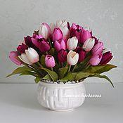 Цветы и флористика handmade. Livemaster - original item Interior composition with tulips. floral arrangement.. Handmade.