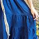 Платья ручной работы. Платье ярусное клиньями. СЛАВный стиль от Заряны. Интернет-магазин Ярмарка Мастеров. Лен, платье в пол