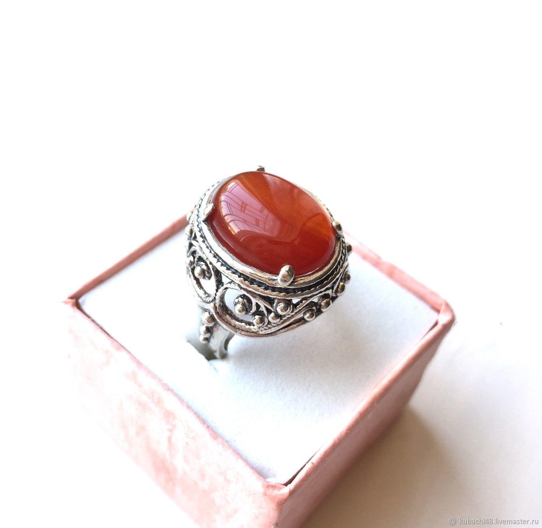 Кубачи! Серебряное кольцо 925 пробы Корица, Кольца, Кубачи,  Фото №1