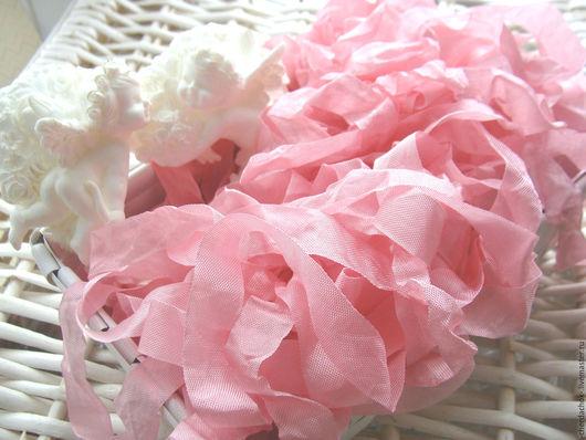 Открытки и скрапбукинг ручной работы. Ярмарка Мастеров - ручная работа. Купить Шебби-лента Теплый розовый. Handmade. Шебби лента