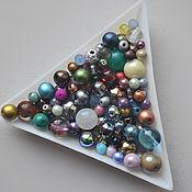 Материалы для творчества handmade. Livemaster - original item Mix of round beads 4-8 mm. Czech. 20 gr.. Handmade.