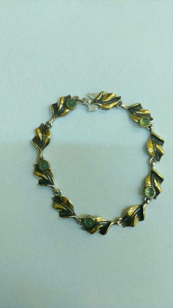 "Bracelet ""Pandora"" of  silver, with chrysoprase, Bead bracelet, Moscow,  Фото №1"