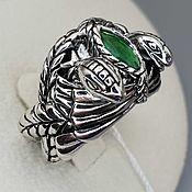 Украшения handmade. Livemaster - original item Silver ring with fluorite 8h4 mm. Handmade.