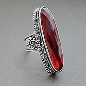 Р.18.5 Серебряное кольцо с рубиновым кварцем