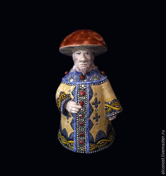 """Колокольчики ручной работы. Ярмарка Мастеров - ручная работа. Купить колокольчик """" Царь Белый гриб"""". Handmade. Желтый"""