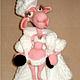 Игрушки животные, ручной работы. Ярмарка Мастеров - ручная работа. Купить овечка Клаудия. Handmade. Бледно-розовый, амигуруми
