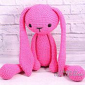 Куклы и игрушки handmade. Livemaster - original item Large long-eared knitted Bunny handmade. Handmade.