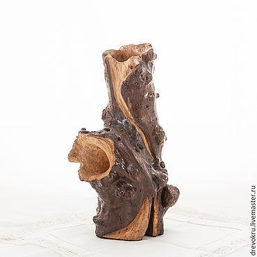 Для дома и интерьера ручной работы. Ярмарка Мастеров - ручная работа Ваза Деревянная «Тотем». Handmade.