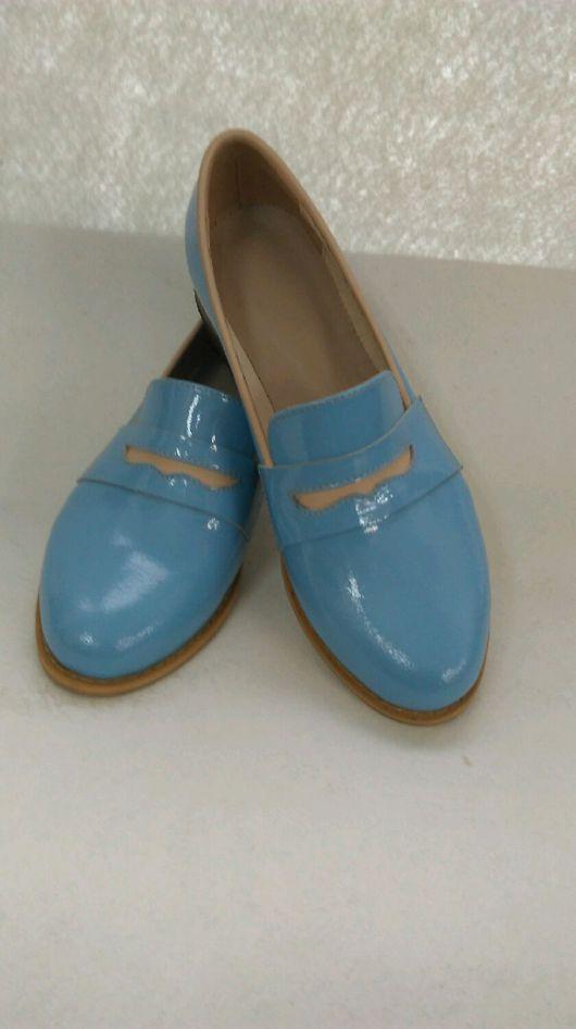 Обувь ручной работы. Ярмарка Мастеров - ручная работа. Купить Лоферы женские. Handmade. Лоферы, чепрак