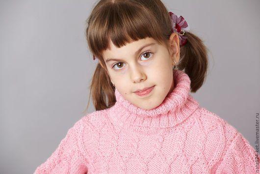Одежда для девочек, ручной работы. Ярмарка Мастеров - ручная работа. Купить водолазка розовая мечта. Handmade. Розовый, вязание, подарок