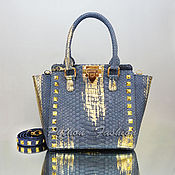 Сумки и аксессуары handmade. Livemaster - original item Python Eclipse bag with gold. Handmade.