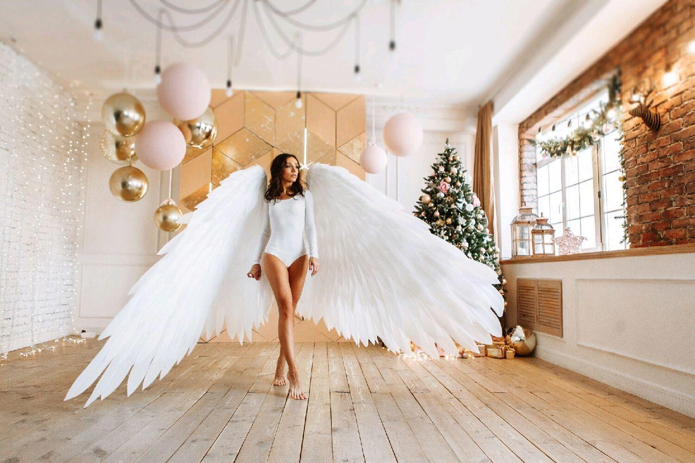 бежевого фотосессия ангелы с крыльями томск деревьев, создавшие шедевр