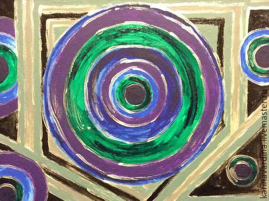 """Абстракция ручной работы. Ярмарка Мастеров - ручная работа. Купить Картина """"Сознание"""". Handmade. Тёмно-синий, линии, психология, интеграция"""