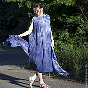 Одежда handmade. Livemaster - original item Dress circle Indigo. Handmade.