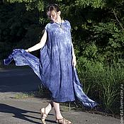 Одежда ручной работы. Ярмарка Мастеров - ручная работа Платье-круг цвета Индиго. Handmade.