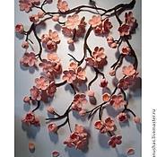 """Картины и панно ручной работы. Ярмарка Мастеров - ручная работа панно """"Сакура""""  (квиллинг). Handmade."""