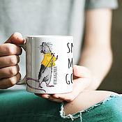 Чашки ручной работы. Ярмарка Мастеров - ручная работа Чашка Фредди КРЫСмас. Handmade.