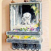 Для дома и интерьера handmade. Livemaster - original item Key holder with shelf