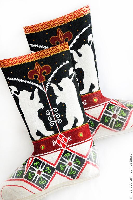 """Обувь ручной работы. Ярмарка Мастеров - ручная работа. Купить Мужские валенки"""" Логово Беров"""". Handmade. Мужские валенки"""