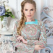 Одежда handmade. Livemaster - original item Dress Vasilisa turquoise. Handmade.
