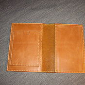 Сумки и аксессуары handmade. Livemaster - original item Passport cover avtodokumentov or red leather. Handmade.